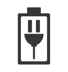 Charging battery symbol icon vector