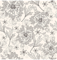 Abstract floral pattern seamless flowers pattern vector