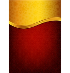 Abstract red background and golden label vector image vector image