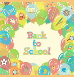 Back to school balloons background vector