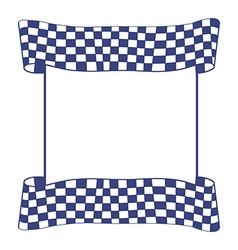Blue checkered flag vector