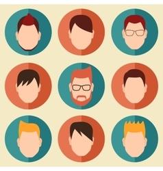 Boys Icons Set vector image vector image