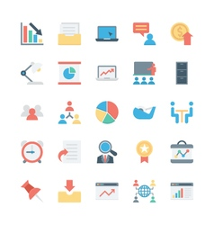 Business and office colored icons 6 vector