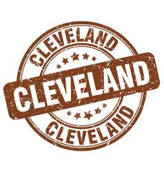 Cleveland brown grunge round vintage rubber stamp vector