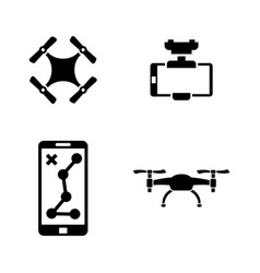 drone simple related icons vector image vector image