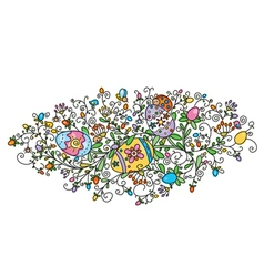 Floral easter vector
