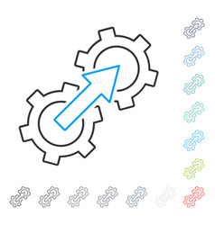 Gear integration contour icon vector