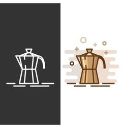 Geyser coffee maker icon vector
