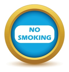 Gold no smoking icon vector image