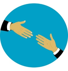 Hands - support and help concept vector image vector image