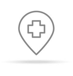 hospital location icon in trendy thin line style vector image vector image