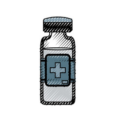 isolated medicine liquid bottle vector image vector image