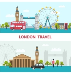 London city skyline poster vector