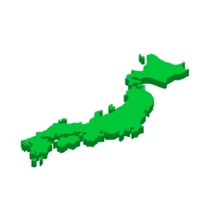 Map of Japan icon isometric 3d style vector image