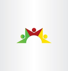 People dancing teamwork icon vector