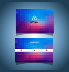 Pixel design business card vector