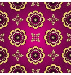 Purple seamless vintage pattern vector image vector image