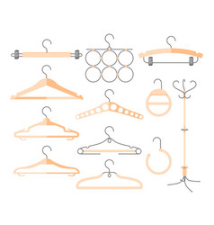 Set of hangers - modern realistic isolated vector