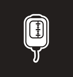 Stylish black and white icon blood transfusion vector