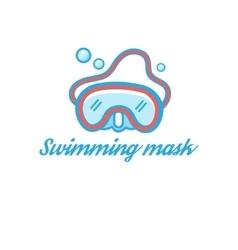 Symbol scuba mask vector