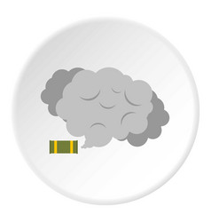 Tear gas canister icon circle vector