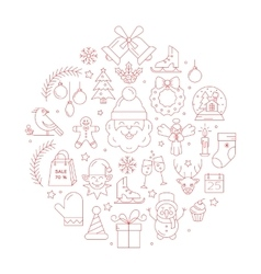 Unique concept with different christmas and vector image vector image