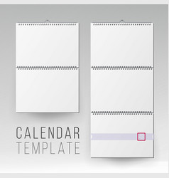 Wall calendar mock up template square vector