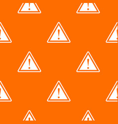 warning attention sign with exclamation mark vector image