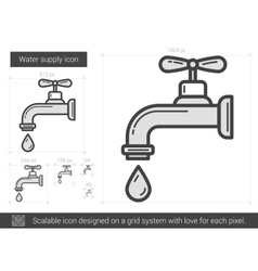 Water supply line icon vector
