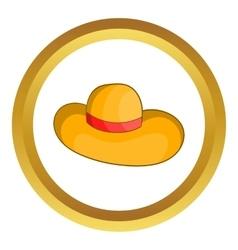 Womens beach hat icon vector