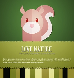 With nature and squirrel vector