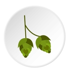 Hops icon flat style vector