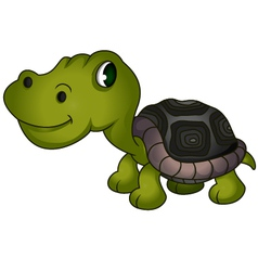 Cute turtle cartoon vector