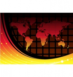 world is hot vector image