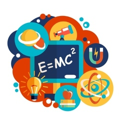 Physics science flat design vector