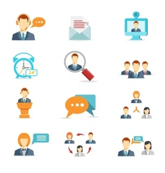 Business communication and web conference icons vector
