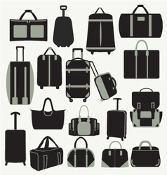 Baggage theme icons vector