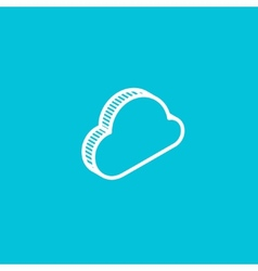 cloud isometric icon vector image