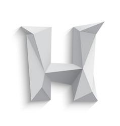 3d letter h on white vector