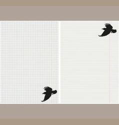 School page with crows vector