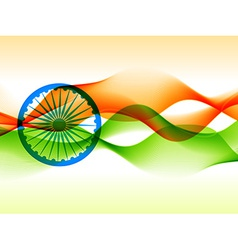 Indian flag design made with in wave style vector