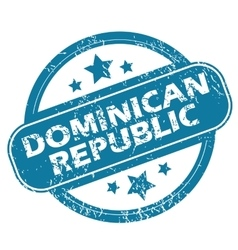 Dominican republic round stamp vector