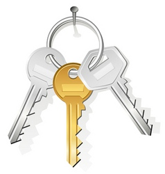 keys on nail vector image