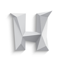 3d letter h on white vector