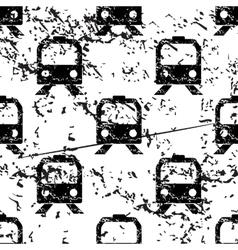Train pattern grunge monochrome vector image