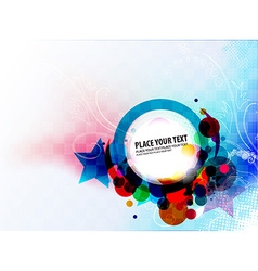 Abstract colorful banner design vector