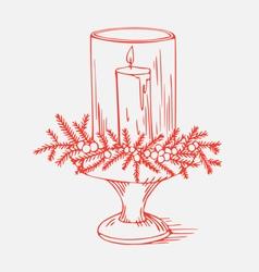 Xmas candle vector