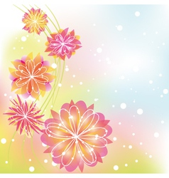 abstract springtime flower vector image