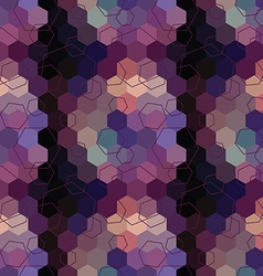 Geometric seamless hexagon abstract background vector
