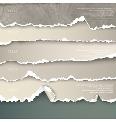 design elements torn paper with place for text vector image